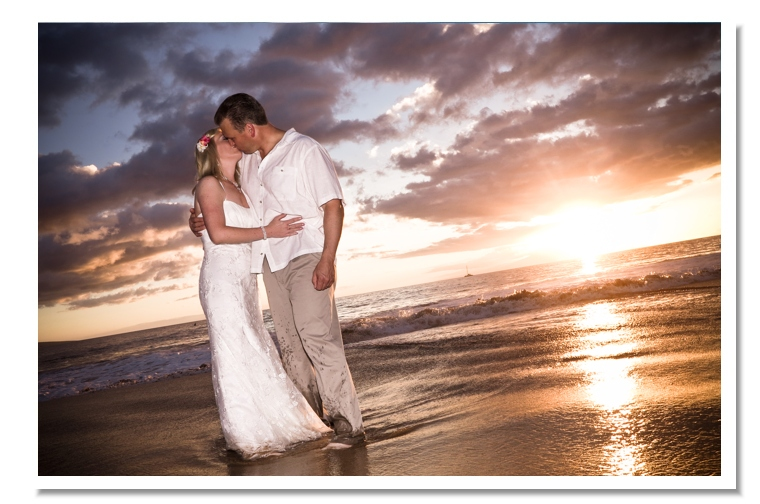 Maui-Beach-Wedding-the-kiss Maui Wedding Package