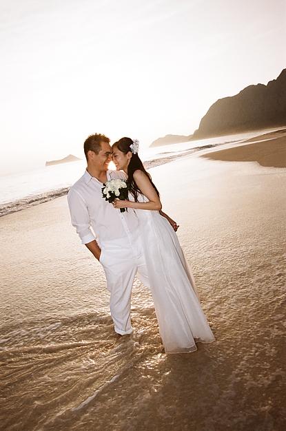 marlon-Waimanalo-sunrise-wedding DREAM WEDDINGS HAWAII INC