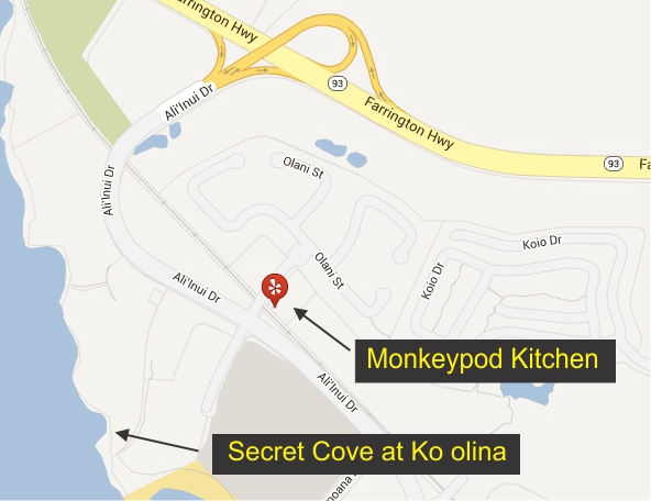 monkeypod-map THE MONKYPOD KITCHEN: Great for small receptions