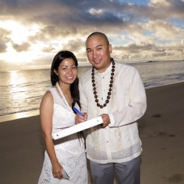 Leland and Kathy's Sunrise Wedding on Oahu