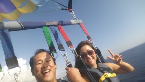 Parasailing close to 1000 feet up.  Review to come soon!