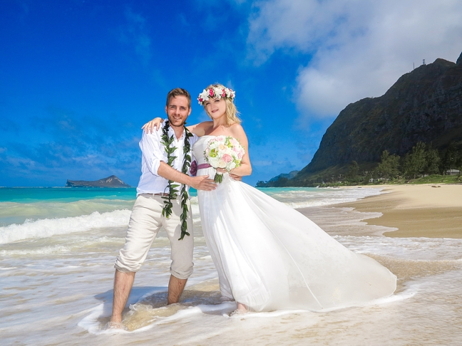 Are you interested in a hawaii wedding hawaii wedding packages hawaii weddign waimanalo beach 3 300x225 are you interested in a junglespirit Images
