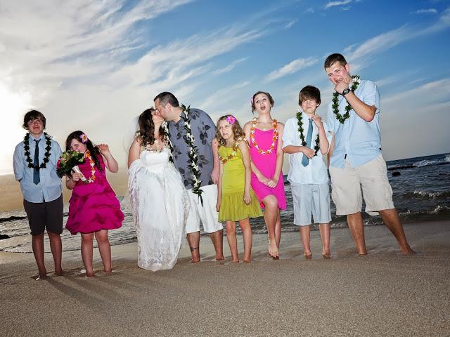 and-they-kiss-2 Kids and Hawaii Weddings.