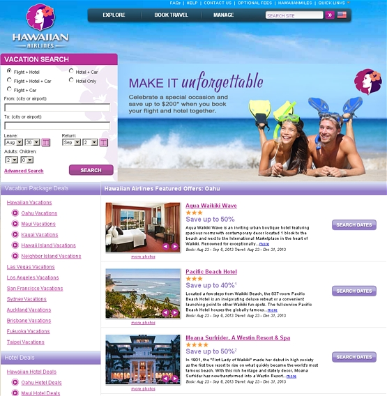 travel-deals-to-hawaii TRAVEL DEAL ALERT!  Book Hotel and Air with Hawaiian Airlines and save $200!