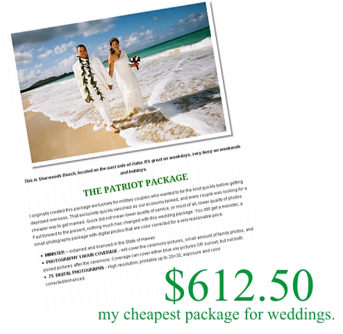 cheapest The Cost Savings of a Hawaii Wedding Package