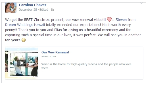 Carolina-Facebok-Testimonial The Holidays for Me :)